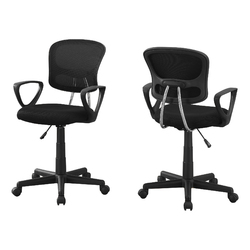 "21.5"" x 23"" x 33"" Black, Foam, Metal, Polypropylene, Polyester - Office Chair"