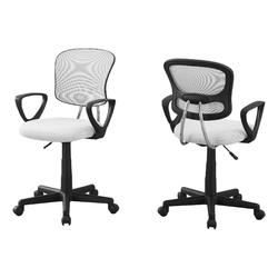 "21'.5"" x 23"" x 33"" White, Foam, Metal, Polypropylene, Polyester - Office Chair"