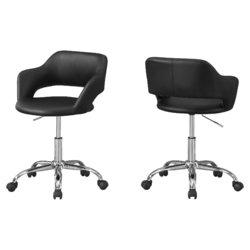 "21"" x 22'.5"" x 29"" Black/Chrome, Metal, Hydraulic, Lift Base - Office Chair"