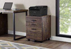"""25.25"""" Particle Board and MDF Filing Cabinet with 3 Drawers"""