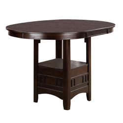 Wooden Counter Height Table, Brown
