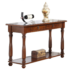 Wooden Console Table, Brown
