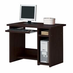 """24"""" X 39"""" X 30"""" Espresso Wood Veneer (Paper) Computer Desk"""