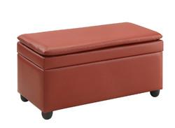 """19"""" X 39"""" X 20"""" Wine PU Upholstery Bench w/Storage"""