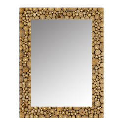 "1.5"" x 27.5"" x 35.5"" Natural Wood, Teak - Wall Mirror"