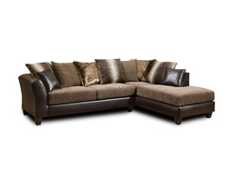 """109"""" X 77"""" X 37"""" Dundee Brown Kali Mocha 100% Polyester Sectional"""