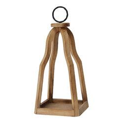 Metal & Open Wood Lantern