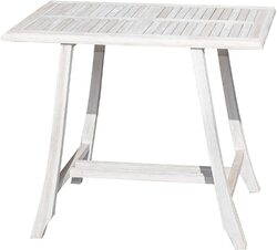 Category: Dropship Gardening, SKU #376771, Title: Compact Teak Dining Table in Driftwood Finish