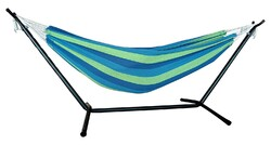 Blue and Green Stripe Classic 2 Person Hammock with Stand