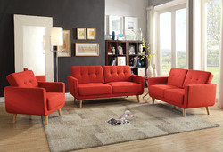 Sisilla Sofa, Red Linen