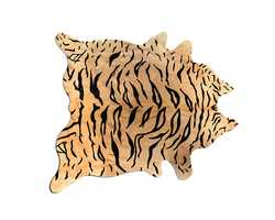 6' X 7' Cowhide Rug - Tiger Chocolate On Natural