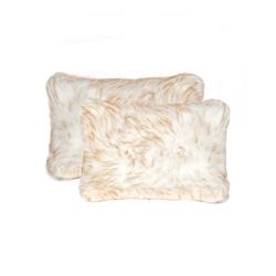 """12"""" x 20"""" x 5"""" Gradient Tan, Faux - Pillow 2-Pack"""