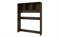 Accentuations by Manhattan Comfort Aosta Display Desk  with 4 Shelves in Tobacco