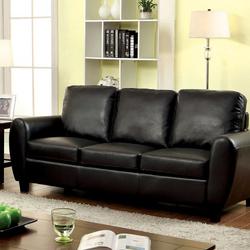 Hatton Contemporary Style Sofa, Black