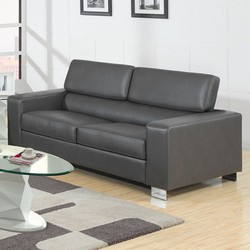 Contemporary Style Relaxing Sofa, Gray
