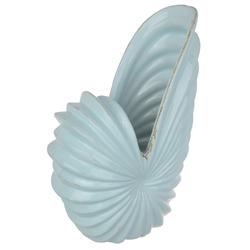 Fine- Looking Short Shell Swept Vase, Light Blue