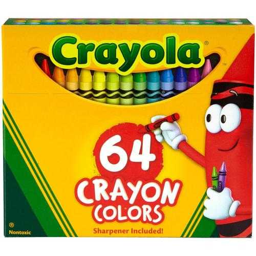Crayola Crayons Assorted Colors Pack Non-Peggable
