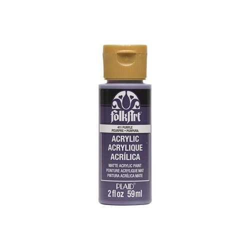 Plaid Folkart Acrylic Paint In Assorted Colors (2 Oz)Purple