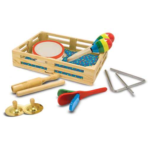 Melissa & Doug Band-in-a-Box Clap! Clang! Tap! Musical Instruments