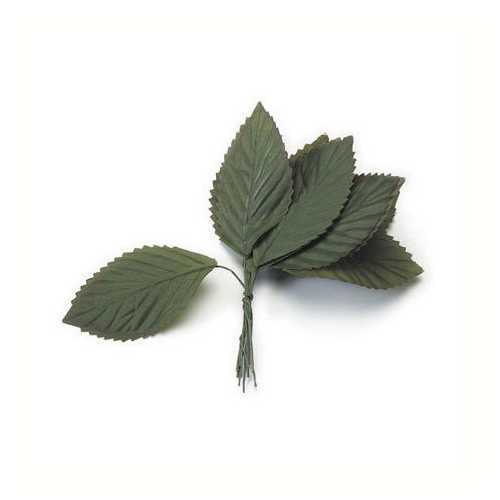Large Rose Leaf Green 1-1/2 X 3 Inches