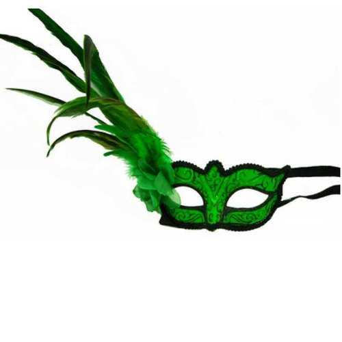Kbw Women's Venetian Styled Eye MaskGreen