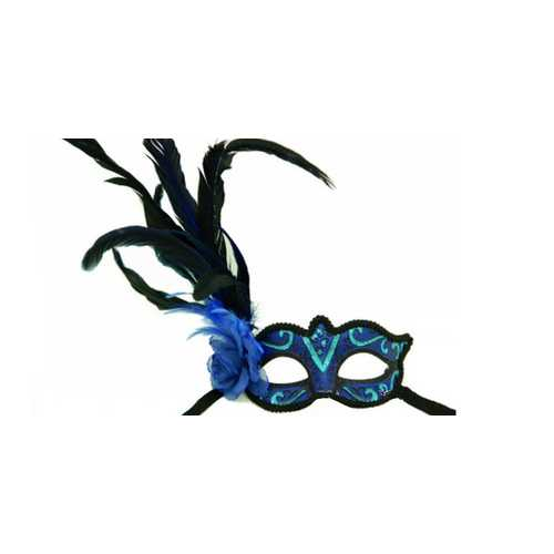 Kbw Women's Venetian Styled Eye Mask Blue