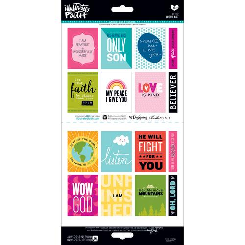 Illustrated Faith Basics Stickers Word Art
