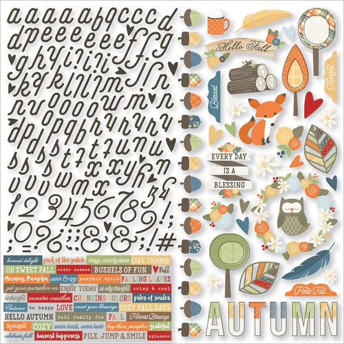 Collection Hello Fall Sticker 12 X 12