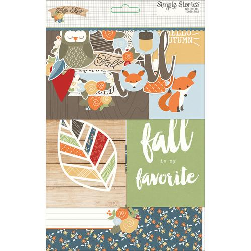 Sn Ap! Card Pack 122 Pkg Hello Fall