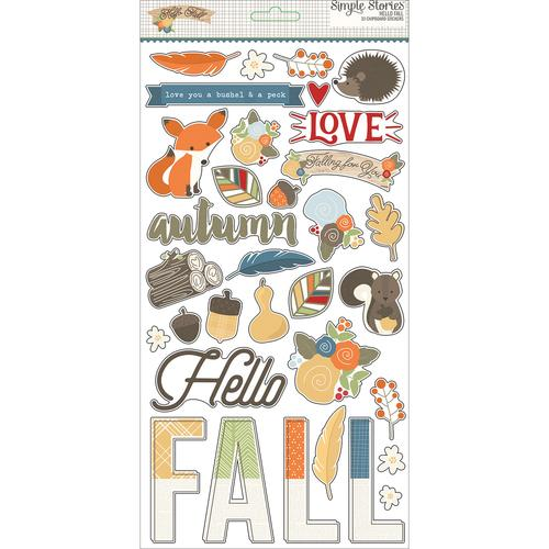 Hello Fall Chipboard Stickers 4384 8
