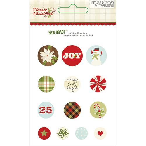 7327 Classic Christmas Brads