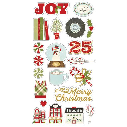 Classic Christmas Chipboard Stickers 439 82