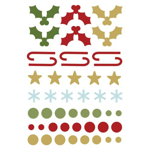 7331 Classic Christmas Enamel Dots Shapes