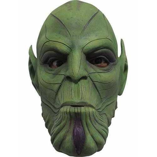 Men'S Captain Marvel Nuro Skrulls Overhead Latex Mask One Size