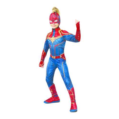 Girls Captain Marvel Headpiece With Mohawk One Size