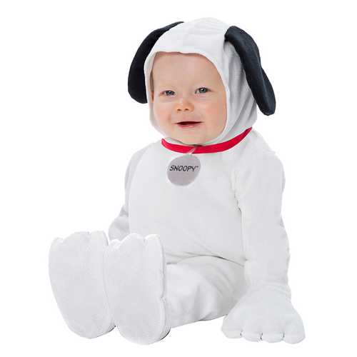 Baby Peanuts Snoopy Newborn Costume White (0-9) Months