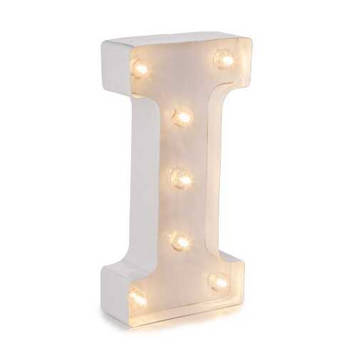 Light Up White Marquee Letters - Letter I  9.875 inches