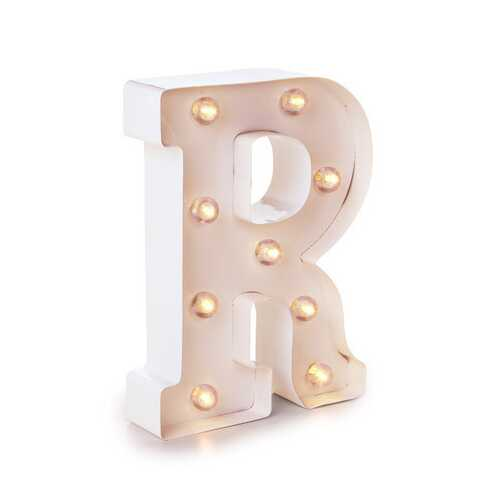Light Up White Marquee Letters - Letter R 9.875 inches
