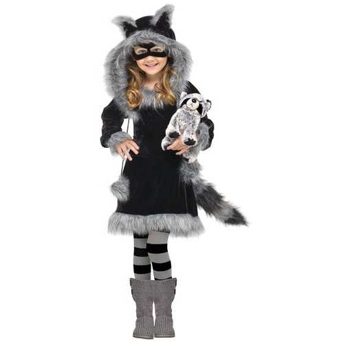 Fun World Costumes Baby Girl's Sweet Raccoon Toddler Costume Small(3T-4T)