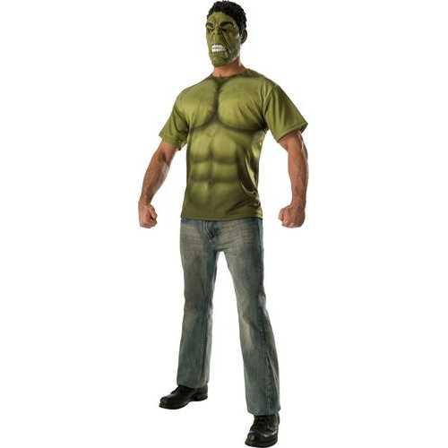 Men'S Incredible Hulk Costume Top And Mask Avengers 2 Costume Medium