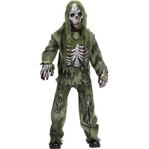 Fun World Boy's Skeleton Zombie Child Costume Small
