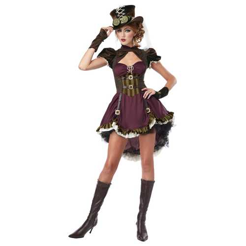 California Costumes Women's Steampunk Adult Burgundy/Brown Small