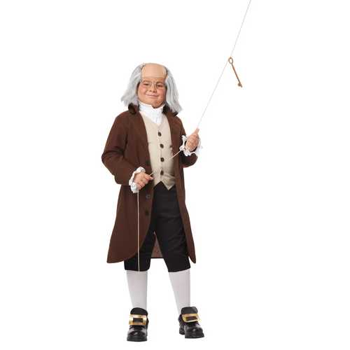 California Costumes Colonial Man/Benjamin Franklin Child Costume Extra Large