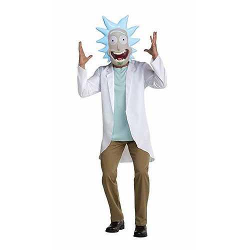 Adult Rick And Morty Rick Costume Medium