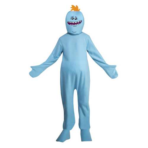 Adult Rick And Morty Mr. Meeseeks Costume Small