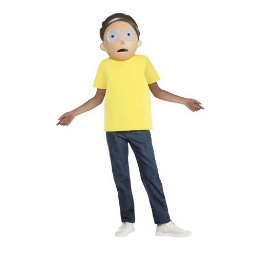 Child Rick And Morty Morty Costume Large 12-14
