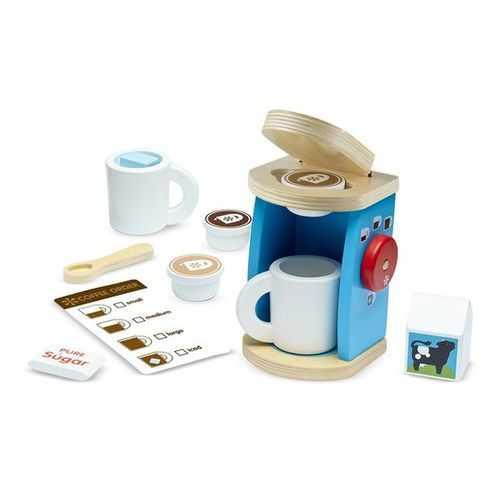 Melissa & Doug Brew & Serve Wooden Coffee Maker Set