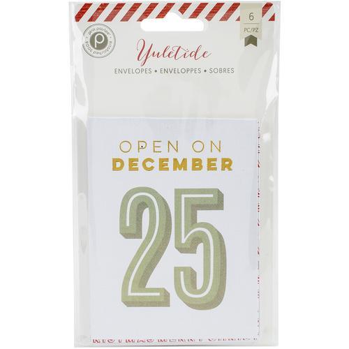 Yuletide Collection Christmas Mini Foil Envelopes
