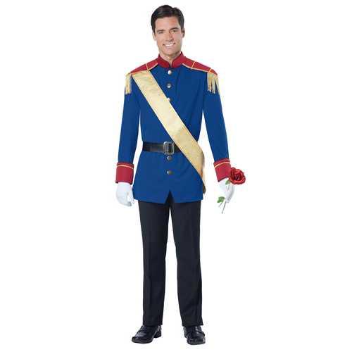California Costumes Men's Storybook Prince Costume Blue/Red Medium
