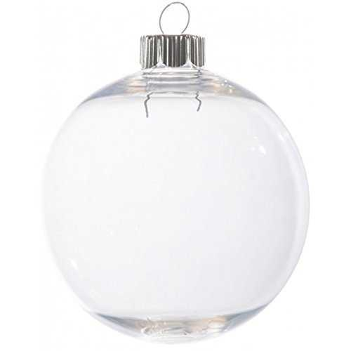 Clear Plastic Christmas Ornament - Round - 83Mm